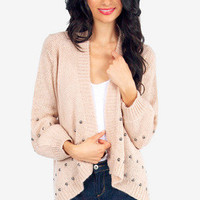 Studs To Be You Knit Cardigan $40