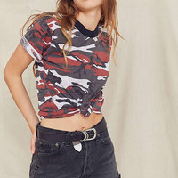 Vintage Cuffed Camo Tee | Urban Outfitters