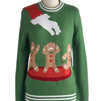 ModCloth Mid-length Long Sleeve Cookie Cutting Edge Men's Sweater