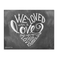 Edgar Allan Poe Heart Shaped Quote - Print