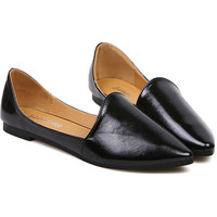 Casual Women's Flat Shoes With Simple Pointed Toe Design