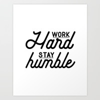 OFFICE WALL ART, Work Hard Stay Humble,Play Hard,Motivational Poster,Be Kind,Home Office Desk,Printa Art Print by Printable Aleks