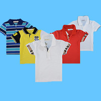 Top quality boys polo shirt for kids brand baby little toddler big boy clothes summer short sleeve cotton t-shirts Boys clothing