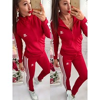 adids:Fashion Letter Long Sleeve Shirt Sweater Pants Sweatpants Set Two-Piece Sportswear