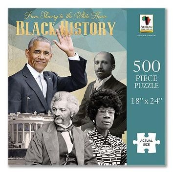 From Slavery to the White House Black History Puzzle