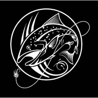 Fly Fishing  Decal Trout decal Fishing Decal Lake Life Decal Vinyl Decal car truck auto vehicle window custom sticker trout fishing decal