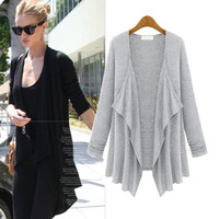 Asymmetrical Long Sleeve Coat