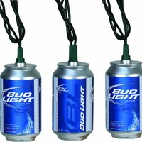 River's Edge Indoor/Outdoor Party Light Set-10 Piece (Bud Light Cans)