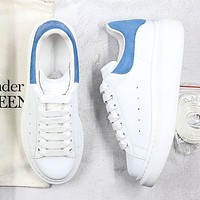 Alexander McQueen fashion men's and women's casual low-top sneakers new white shoes-1
