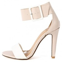 Delicious Vodka-s Two Tone Ankle Cuff Heels | MakeMeChic.com