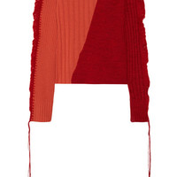 Maison Margiela - Crochet-trimmed two-tone wool sweater