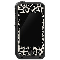 """Black and White Leopard """"Protective Decal Skin"""" for LifeProof iPhone 4/4s Case"""