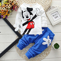 Mickey Mouse comes to life kids boys baby toddler pants and top cute clothing youth girls