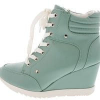 ADRIANA11 LIGHT MINT SNEAKER WEDGE BOOT