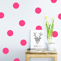 20pcs/54pcs Polka Dots Wall Sticker