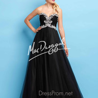 Strapless Sweetheart Formal Prom Gown By Mac Duggal Flash 65104L