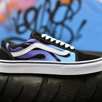 Vans Flame Old Skool Woman Men Fashion Sneakers Sport Shoes