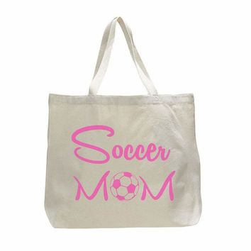 Soccer Mom Tank - Trendy Natural Canvas Bag - Funny and Unique - Tote Bag