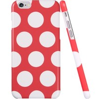 iPhone 6 Case, iPhone 6 Polka dots Case, ESR the Beat Series Protective Case Bumper [Scratch-Resistant] [Perfect Fit] Hard Back Cover with Hot Pink and White Polka Dots for 4.7 inches iPhone 6 (Polka Dots)