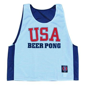 USA Beer Pong Lacrosse Pinnie