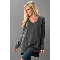 Soft Touch Sweater - Charcoal
