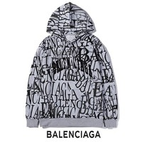 BALENCIAGA Popular Women Men Casual Graffiti Print Hoodie Sweater Sweatshirt