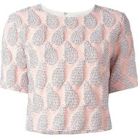 Msgm Cropped Textured Blouse - Petra Teufel - Farfetch.com