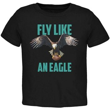Fly Like an Eagle Flying Football Toddler T Shirt