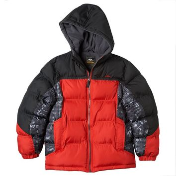 Pacific Trail Colorblock Puffer Jacket - Boys 8-20 (Red)