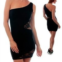 G2 Fashion Square Women's One Shoulder Form-Fitting Dress