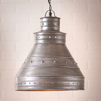 Farmer's Market Pendant Hanging Ceiling Light with Antiqued Polished Finish