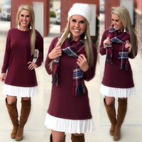 Talk about Terry Tunic: Burgundy
