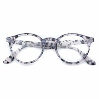 Perry Small Round Clear Lens Plastic Fashion Glasses