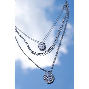 Coming Around Necklace - Silver