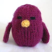 Handknit Sangria Song Bird Toy by TailsandSnouts on Etsy
