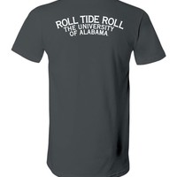 Official NCAA Venley University of Alabama Crimson Tide UA ROLL TIDE! Unisex V-Neck T-Shirt - 35AL-5