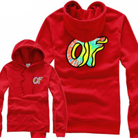 Odd Future Awesome Donut Red Hoodie