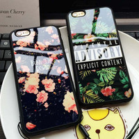 Luxury Floral Beautiful Flowers Girls Silicon TPU Soft Back Cover Case For iphone 5 5s SE 6 6s 6 plus 6s plus + Nice gift box 072301
