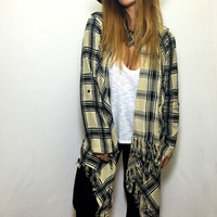 Falling for You Flannel Cardigan