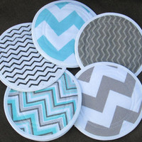 Nursing pads/breast pads/ eco friendly/  waterproof/ washable /reusable/ flanne/l pul /5 pairs