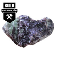 "Build Your Rainbow Fluorite Stone Plugs (2g-3"")"
