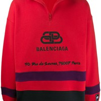 Red Local Zip Jumper by Balenciaga
