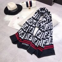 FENDI Women Fashion Cashmere Scarf Scarves