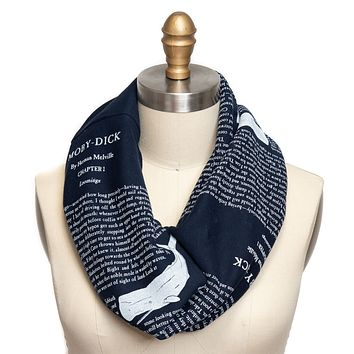 Moby Dick Book Scarf