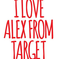 Funny 'LOL I Love Alex From Target' Black and White Clouds Accessories
