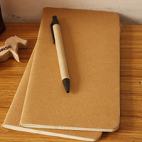 cowhide paper notebook blank notepad book vintage soft copybook daily memos Kraft cover journal notebooks free shipping 01623