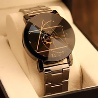Luxury Watch Fashion Stainless Steel Watch for Man Quartz Analog Wrist Watch