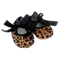 ICIKYE Kids Baby shoes girls Bowknot Leopard Printing Newborn Cloth Shoes baby shoes