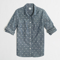 Factory classic button-down shirt in dotted chambray - Shirts & Tops - FactoryWomen's New Arrivals - J.Crew Factory