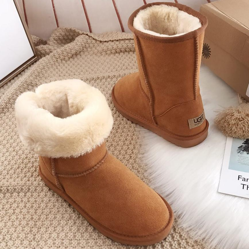 Image of UGG Classic Boots Wool Fur Boots High Boots Shoes